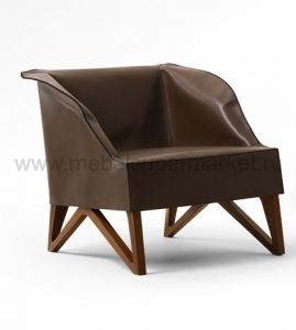 MOBIUS SMALL ARMCHAIR CUOIO 62920